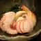 煮物椀 油目の唐揚げ 椎茸 うるい 蕨 清まし汁仕立て