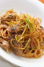 季節限定パスタ『牡蠣の焦がしクリームスパゲティ』