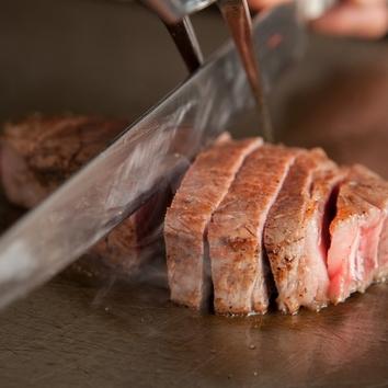 WEB限定①黒毛和牛サーロイン&神戸牛赤身ステーキのコース