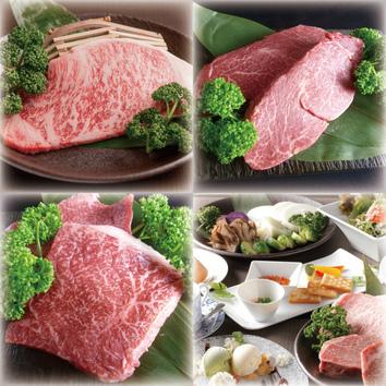 WEB限定②神戸牛霜降りロース&神戸牛赤身ステーキのコース