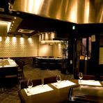 特別な日のご利用に最適な落ち着きのある内装、パーティー・記念日・神戸観光の締めくくりに贅沢な食事会◎
