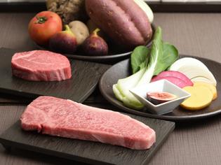 A5ランクと熟成の食べ比べができる神戸牛と野菜ソムリエ厳選野菜