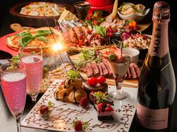 期間限定!コース料理に加え、お好きな食べ放題が選べます。