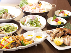 女子会やご宴会にもおすすめの定番コース。 旬の食材をを、お得な価格でお愉しみ下さい。