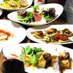 フォアグラや和牛サーロインステーキなど贅沢な食材も愉しめます