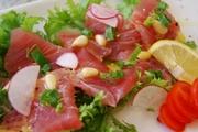 日替わり鮮魚のカルパッチョです。