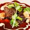 牛肉煮の赤ワインとチーズフォンデュソース