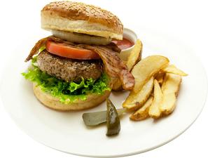ハンバーガー~自家製BEEF100%パテは迫力の200g!!~