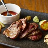 厳選黒毛和牛ハラミ肉の肉厚ステーキ