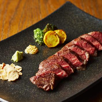 ●メインに厳選和牛ハラミ肉厚ステーキ (全8品)