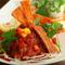 カレイの唐揚げとアボカドのサルサ&チップス