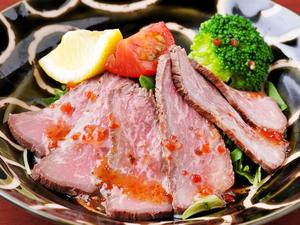やわらかな肉の旨みを堪能できる逸品『ローストビーフ』