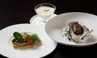 本日のオードブル/スープ/本日のメイン(お魚料理、又はお肉料理)/バゲットとバター付き +¥200+税にてコーヒー又は紅茶、+¥400+税にて本日のデザートを追加できます。