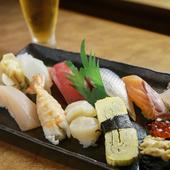 厳選ネタが楽しめる『特上寿司(十一貫)』