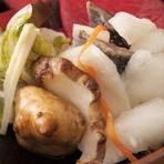 地元でとれる新鮮な野菜を使用しています