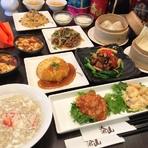 イチオシ!中華創作料理の鮭クリームスープ麺、エビマヨ・エビチリをクレープ巻き それ以外にも、蟹肉入りフカヒレスープ、白身魚の甘辛炒め、中華厚焼きたまご、小籠包、マーボー豆腐、選べるお食事、杏仁豆腐