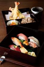 上寿司・天ぷら・きのこそば膳