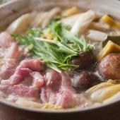 ぜいたくな味わい『もち豚と地鶏のゆずちゃんこ鍋』 一人前