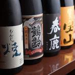 こだわりの日本酒・焼酎を取り揃えております!