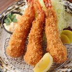 プリプリッとした食感が楽しめます『大海老フライ定食』