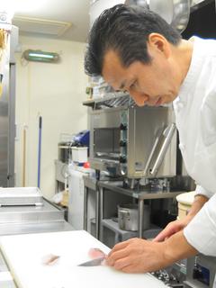 料理屋・旅館での料理長経験を持つオーナー:菊池さん