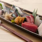 旬の魚介『ちょい盛り(6点盛り)二人前』 1400円