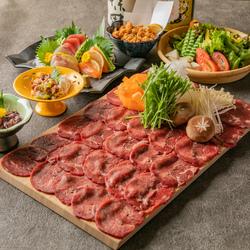 各種宴会・歓送迎会にお勧め♪料理長厳選の旬の食材、絶品牛タンしゃぶしゃぶやもつ鍋が堪能できるコース!