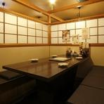 プライベート感覚で利用できる個室完備