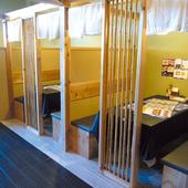 個室のテーブルはカップルから女子会・主婦会に大人気!