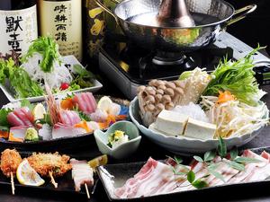 新鮮な海鮮や肉料理の『和のコース』 +1500円で飲み放題付