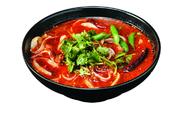 辛いスープのマーラー刀削麺