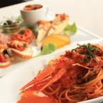 旬の食材をふんだんに使用したイタリアンフレンチ