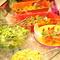 緑黄色野菜、惣菜がたっぷり食べられるのがうれしい