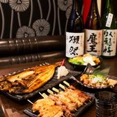 料理とともに味わう、豊富な日本酒