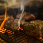 熟成和牛の炭火焼き