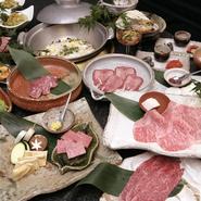 おいしいお肉を堪能したい方は、コースをご注文下さい。鮮度抜群、さらには希少部位のお肉もあります。
