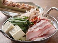 『ぶた鍋』には、新鮮なバラ肉を使用しています