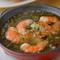 シンプルな素材の味を生かした『エビのオイル煮』