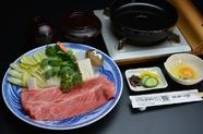 松阪牛 すき焼き (御飯・みそ汁・香の物付)