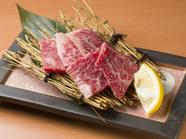 香川県で時間をかけて育てられた高級牛『讃岐牛カルビ鉄板焼き』