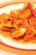 魚介のトマトソーススパゲティー。
