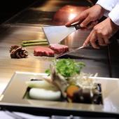 大切な記念日に宮崎県産牛の鉄板焼きディナーはいかが?