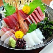全国から届いた鮮魚を盛り合せ『雪(一人前)』
