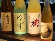 鳳凰美田のゆず酒    ¥500 鳳凰美田のもも酒    ¥500