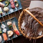 季節の旬味を、熱々の創作串揚げとしてご賞味いただけます