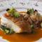 真鱈のポワレ白子添えサフランソース