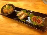 豚のオリジナル天ぷら『とんぷら』おまかせ3点盛り