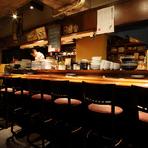 お料理内容は利き酒師の店主と元有名ホテルシェフとがコラボしたお任せ料理となります