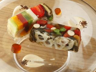 五感を開く色鮮やかな季節の逸品『季節野菜のにこごり』