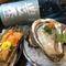 ウニの食べ比べと岩牡蠣